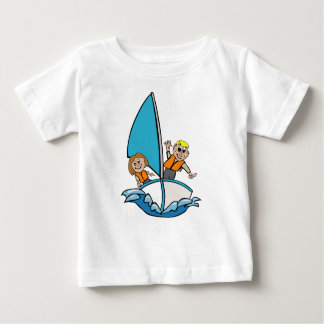 Kids sailing in the sea baby T-Shirt