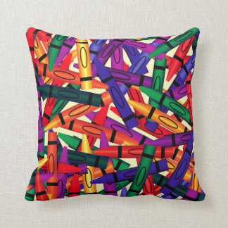 Kids Scattered Crayons Crayon Room Décor Pillow Throw Cushions