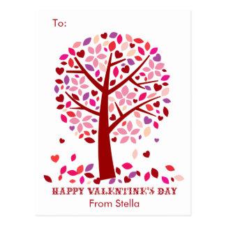Kids School Classroom Valentine Cards Tree of Love Postcard