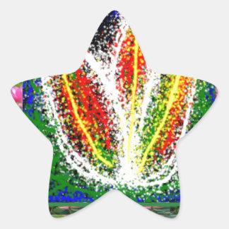 kids SCRABBLE art ; LOTUS bright symbols Star Sticker