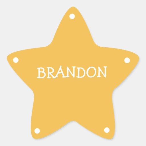 Kids Sheriff Badge Name Tag Star Sticker | Zazzle