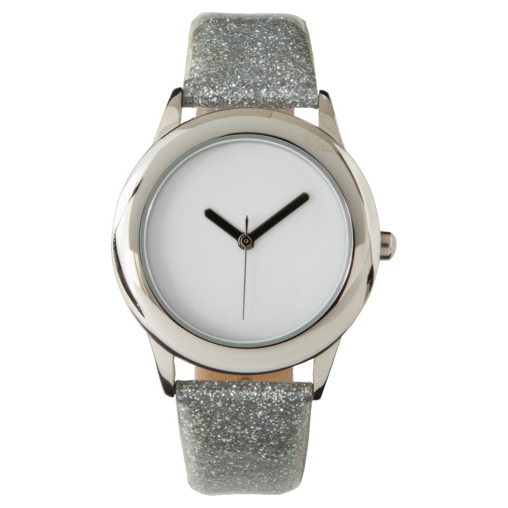 Kid's Silver Glitter Strap Watch