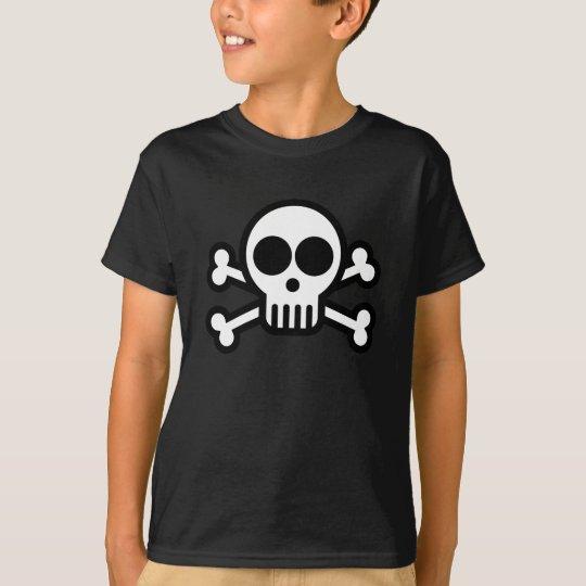 Kids Skull & Crossbones Pirate T-shirt Black
