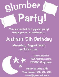 pajama party invitations announcements zazzle uk