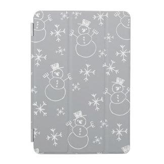 Kids Snowman Pattern iPad Mini Cover