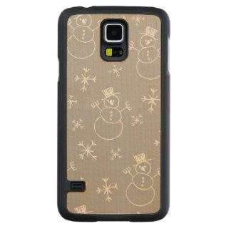 Kids Snowman Pattern Maple Galaxy S5 Case