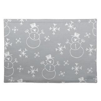 Kids Snowman Pattern Placemat
