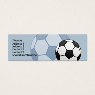 Kids Soccer Ball Skinny Profile Card