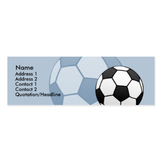 Kids Soccer Ball Skinny Profile Card Business Cards