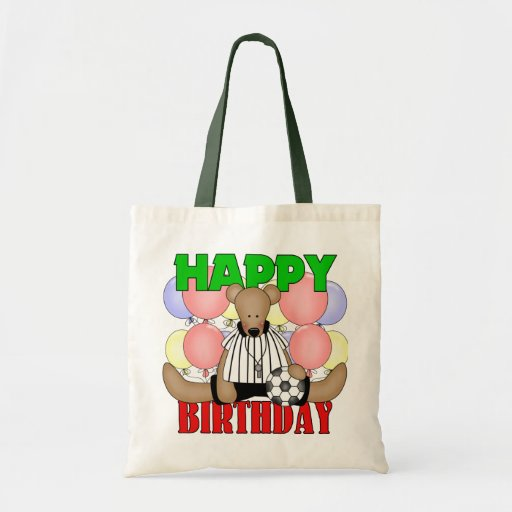 Kids Soccer Birthday Canvas Bags