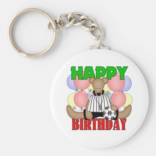 Kids Soccer Birthday Basic Round Button Key Ring