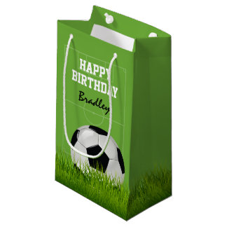 Kids Soccer Football Happy Birthday | Personalized Small Gift Bag