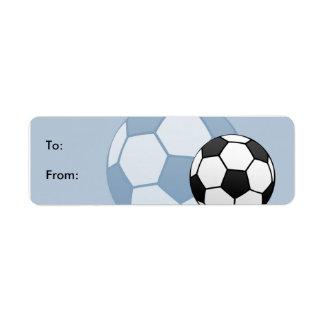 Kids Soccer Gift Tag Labels