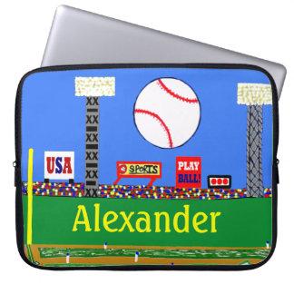Kids Sport Baseball Laptop Cover Athletic Gift