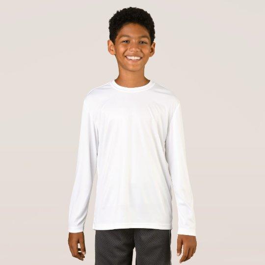 Kids' Sport-Tek Competitor Long Sleeve T-Shirt, White