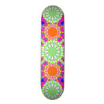 Kids Sports Girl's Pink & Green Skateboard Deck