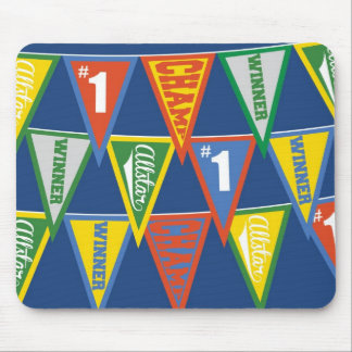 Kids Sports Pennants Mouse Pad