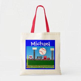Kids Sports Personalized Baseball Art Gym Bag Gift