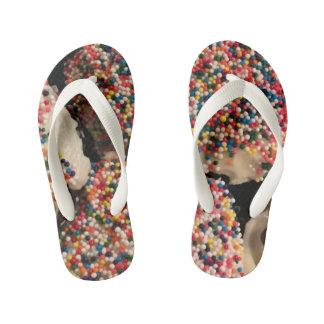 Kids Sprinkle Flip Flops