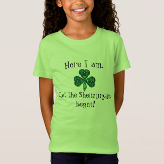 Kid's St. Patrick's Day Let the Shenanigans Begin! T-Shirt