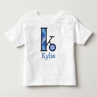Kids Star of David Hanukkah Tee Girls Initial K