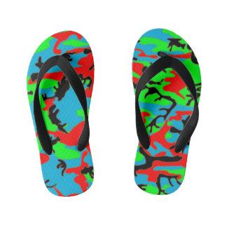 Kids style camo kid's flip flops