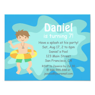 kid pool party invitation Kaysmakehaukco
