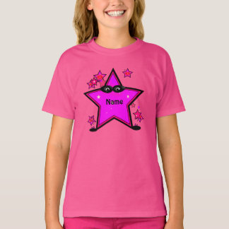 Kids Superhero Star Girls Wow Pink T-shirt