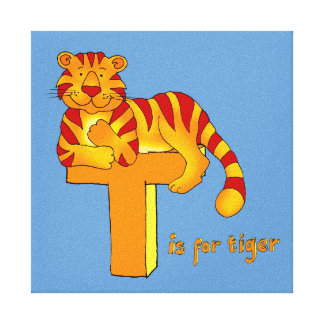 Kids T is for Tiger Gallery Wrapped Canvas