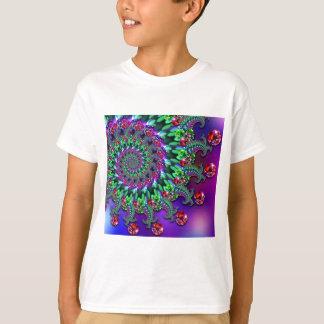 Kids T-Shirt - Bokeh Fractal Purple Terquoise