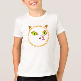 """Kids T-Shirt """"Close Encounters of the Furred Kind"""""""