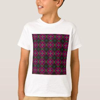 Kids T-Shirt - Fractal Pattern pink green purple