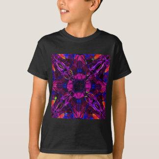 Kids T-Shirt - Fractal Pattern Purple Blue Pink