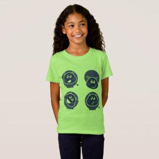 Kids t-shirt Green happy hippo