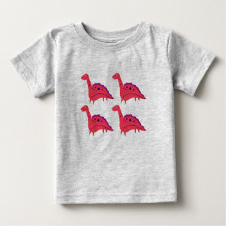 Kids t-shirt grey with little cute Dinos