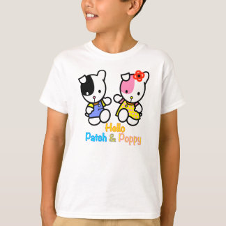 "Kid's T-shirt ""HelloPATCH and POPPY"" the puppies."