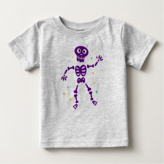 Kids t-shirt in grey with Skeleton