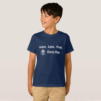 Kid's T-shirt: Learn Love Pray T-Shirt