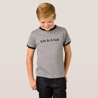 Kids T-shirt - Life Is A Gift Logo