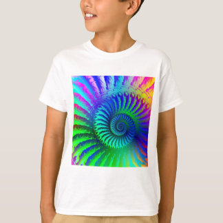 Kids T-Shirt - Psychedelic Fractal blue terquoise