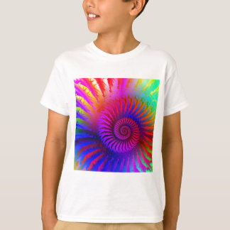 Kids T-Shirt- Psychedelic Fractal pink red purple T-Shirt