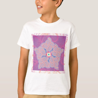 Kids T-Shirt - Purple Star Fractal Pattern