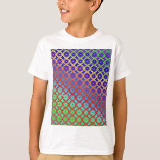 Kids T-Shirt - Rainbow Mandala Fractal Pattern