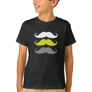 Kids T-Shirt - Three Moustaches