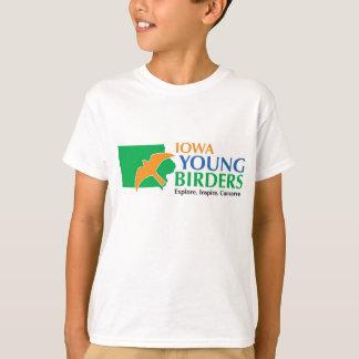 Kids t-shirt with Iowa Young Birders logo