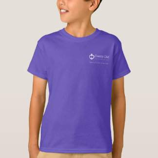 Kids' T-shirt with logo on back - Purple