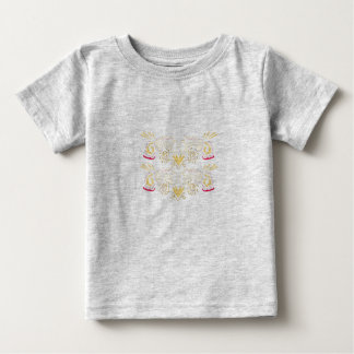 Kids t-shirt with Ornaments gold