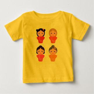 Kids t-shirt yellow with Japan girls