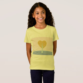 KIDS T-SHIRT Yellow with love tree