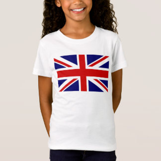 Kid's T Shirts with British Union Jack flag